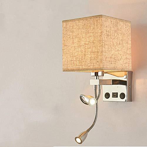 Moderne LED wandlamp slaapkamer wandlamp met schakelaar lamp lamp hoofdeinde Thuis wandlamp e-D_With_USB_Warm_White_(2700-350