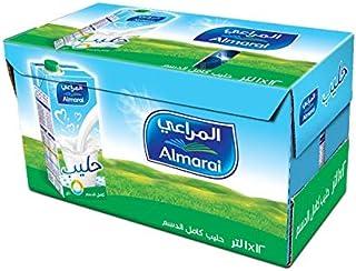 Almarai Full Fat Milk Screwcap With Vitamin, 12 x 1 Liter