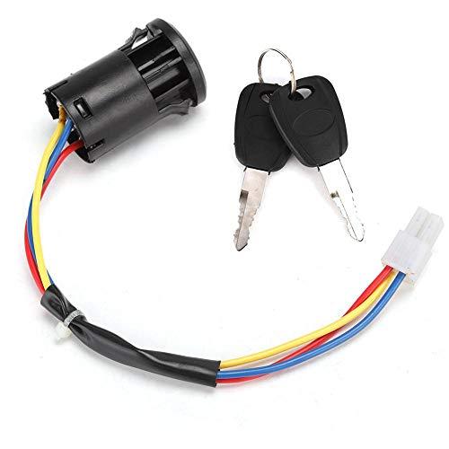Antilog elektrische draad Ontsteking Schakelaar Sleutel, Elektrische Fietsslot Mobiliteit Scooter Deur Lock Ontstekingssleutel Schakelaar Sleutelslot voor de Oudere Mobiliteit Scooter Accessoire