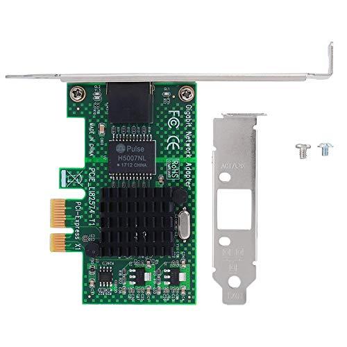 Tonysa PCI-E Gigabit Netzwerkkarte, Desktop LAN Netzwerkkarte,10/100/1000 Mbps Netzwerkkarte für Intel 82574L,Kompatibel mit Win98se/Me/NT/2000/XP/7/8.1/10/Linux usw.