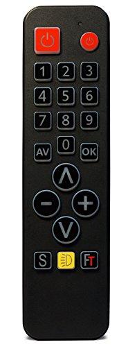 FeinTech SDF00400FeinControl telecomando universale con tasti grandi illuminazione retroilluminati nero