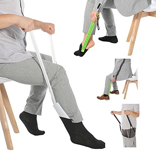 Anziehhilfe für Socken, Hosen, Schuh und Strümpfe, Sockenanziehhilfe für Senioren und Behinderte