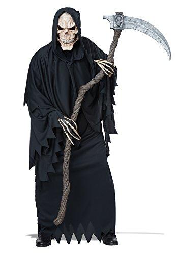 Generique - Sense für Erwachsene Holzoptik Sensenmannkostüm Halloween