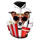 MSUNOON Perro-Hombre Sudaderas con Capucha 3D Divertida Hoodie con Mangas Largas Unisex Streetwear