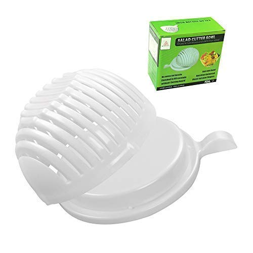Salad Cutter Bowl,Easily Fruit Vegetable Salad Maker Bowl in 60 Seconds Fast and Effective