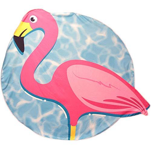 Jet Lag VO1307 - Toalla de playa (150 cm), diseño de flamenco, color rosa y azul
