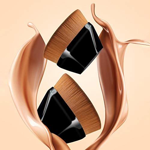 Pinceau de Maquillage de Base en Forme de pétale avec étui de Rangement, pour Les cosmétiques en Poudre sans Faille à la crème Liquide Mixte
