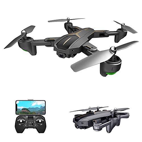ZHCJH Drone con cámara 4K Drone GPS 5G WiFi FPV Drone Plegable Modo sin Cabeza GPS Seguimiento de Gestos Disparo con una tecla de Retorno Drone para Adultos
