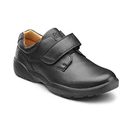 DR. COMFORT Men's William Black Diabetic Casual Shoes: Black 11 X-Wide (3E/4E)