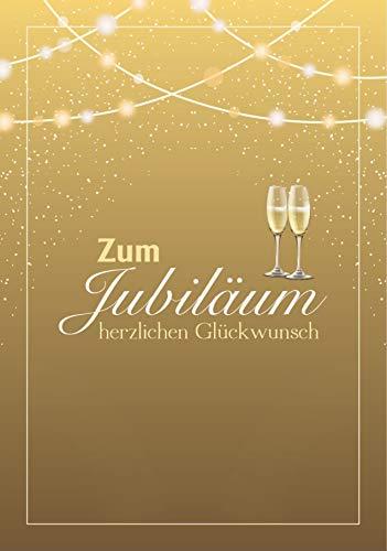 Jubiläumskarte Schrift gold Glückwunschkarte zum Jubiläum herzlichen Glückwunsch (Goldenes Jubiläum)