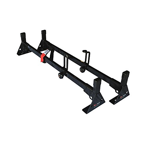 Vantech Universal Pickup Topper 2 Bar Ladder roof Van Rack System 42'-45' Black