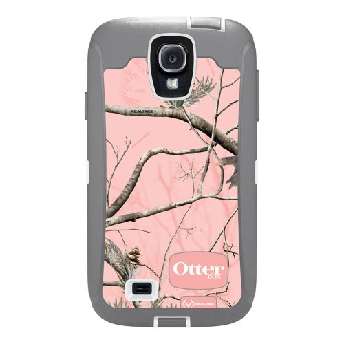OtterBox Defender Series Case and Holster for Samsung Galaxy S4 - Retail Packaging - Realtree Camo - Pink