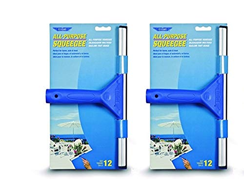 Find Discount Ettore 17012 All-Purpose Squeegee, 12-Inch, Blue, 2 Pack