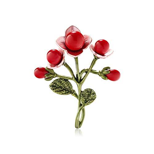 Yazilind Frauen Blumen Broschen Nette Mini Pflanze Emaille Anstecknadeln Abzeichen Schmuck Geschenke