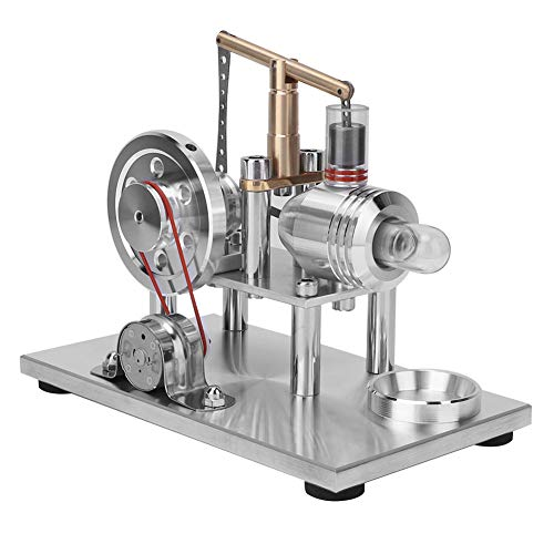 Modelo de motor Mini motor Stirling de aire caliente Equilibrio Stirling Engine Model Science Experiment Kit Generador de motor Stirling LED multicolor Juguetes de educación...