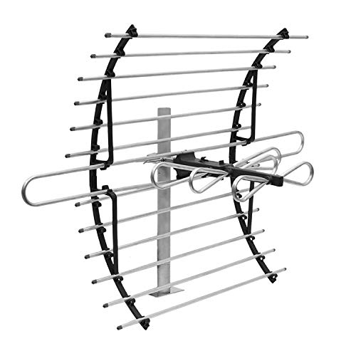 GE Attic Mount TV Antenna, Long Range Antenna, Supports 4K 1080P Digital HDTV VHF UHF, Indoor Directional Antenna, Mounting Pole Included, Out of Sight Compact Design, 33692
