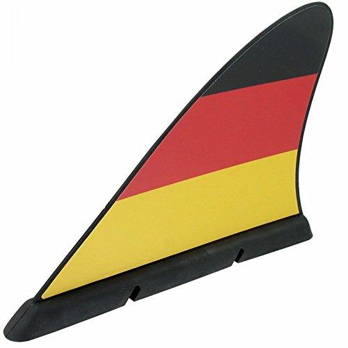 Haiflosse Deutschland, Fanflosse mit Magnet zum Anbringen am Auto in schwarz rot gold