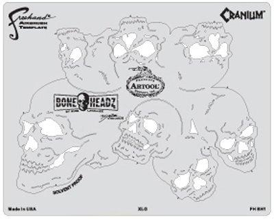 Artool Boneheadz Cranium da Mike Lavallee set di 4stencil
