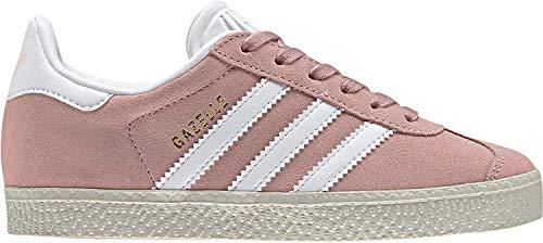Adidas Gazelle C, Zapatillas de Running Unisex Niños, Multicolor (Ice Pink F17/Ftwr White/Gold Met. By9548), 35 EU