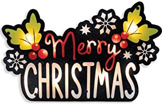 Impact Innovations Silhouette Lighted Shimmer Merry Christmas Sign