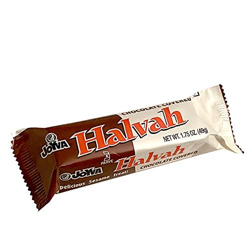 Joyva Halvah Bars - A Delicious Sesame Treat, Chocolate Covered Variety 1.75 oz, 36-count box   Kosher, Parve, Gluten Free, Dairy Free   Handmade in Brooklyn