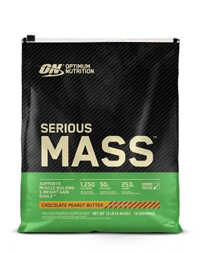 Optimum Nutrition Serious Mass Weight Gainer Protein Powder, Vitamin...