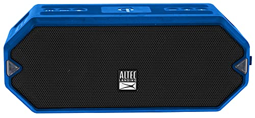 Altec Lansing HydraBlast Wireless Portable Bluetooth Speaker, IP67 Waterproof for Parties, USB C Rechargeable Outdoor Speakers with Built In Phone Charger and LED Lights, 20 Hour Playtime (Royal Blue)