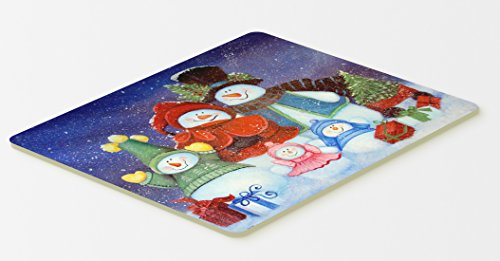 "Caroline's Treasures Merry Christmas from Us All Snowman Kitchen or Bath Mat, 20 by 30"", Multicolor"