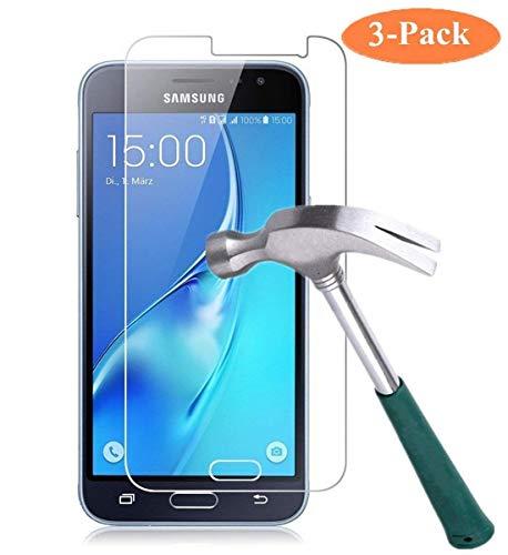 Cardana | 3X bruchsicheres Schutzglas für Samsung Galaxy J3 2017 / J3 2017 Duos| Schutzfolie aus 9H Echt Glas | angenehme Handhabung | Schutzglas zum Schutz vor Displayschäden |