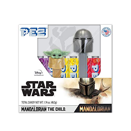PEZ Candy The Mandalorian & The Child (Baby Yoda) Gift Set includes 6 PEZ Candy Rolls