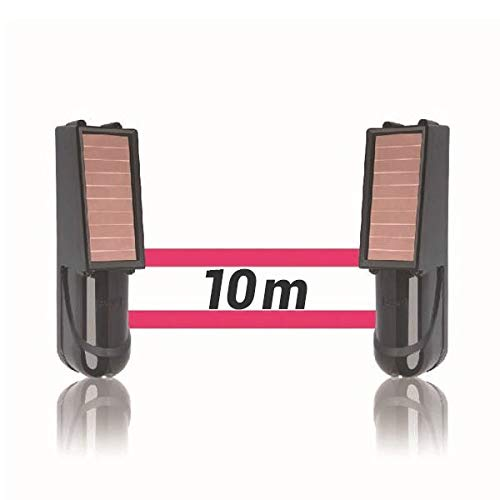 Alarma perimetral foto electrica Placa Solar Baterias SIB exterior inalámbrica. Perimetral exterior. Cerco infrarrojo. Alarma exterior. Barrera perimetral inalámbrica (10 Metros)