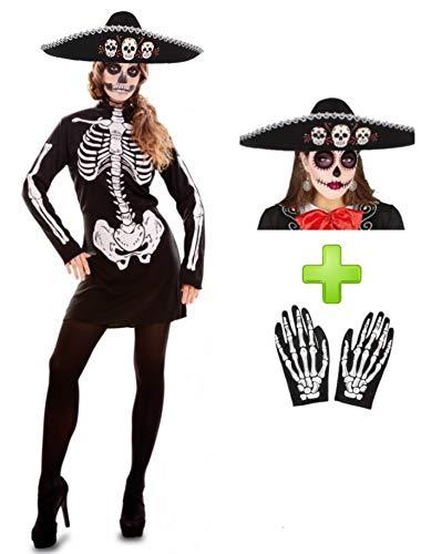 Disfraces Halloween Disfraz De Catrina vestido corto