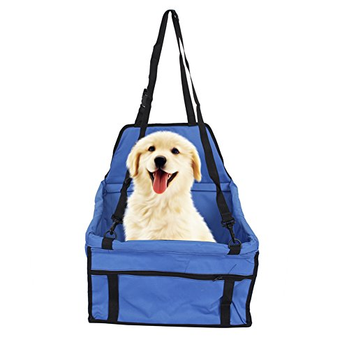 Transporttasche von Tieren Große, Sitz Beistelltisch KFZ-für Hunde Katze Sitzbezug wasserdicht atmungsaktiv mit Lifebelt Transporttasche KFZ-für Reise Ausgang Katze Hund Welpe Hase