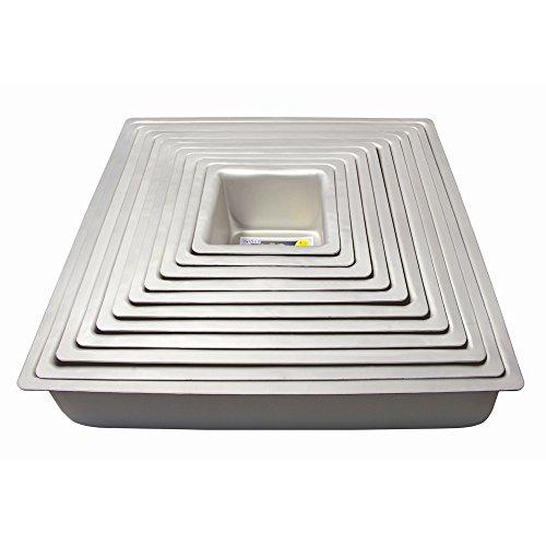 PME Quadratische Backform aus eloxiertem Aluminium, 305 x 305 x 76 mm SQR123 silber