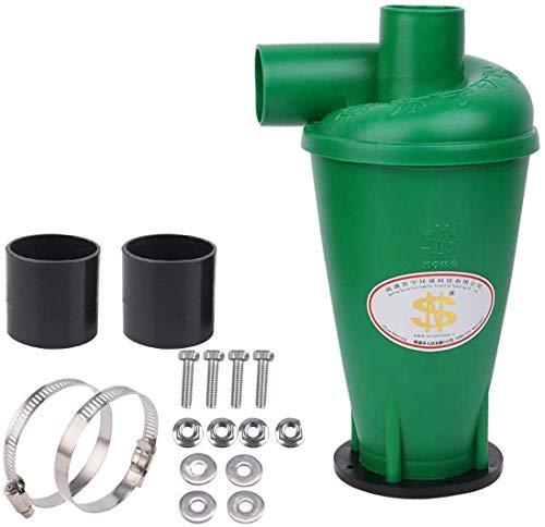 Zyklon Staubabscheider Dust Filter/Abscheider, Hochleistungszyklon Pulver Staub Sammler Filter Fliehkraftabscheider Energieffizienzklasse A für Vakuum Mit Flanschbasis