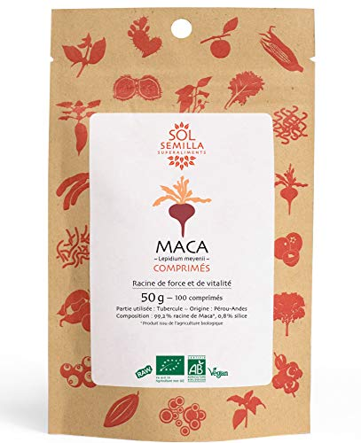 Sol Semilla Maca Bio 100 Comprimés 50 g