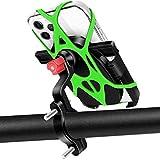 Soporte Movil Bicicleta, HNOOM 360° Rotación Soporte Movil Moto Anti Vibración Porta Teléfono Motocicleta Aluminio Soporte Movil Bici Universal Teléfono Manillar para 4,7-6,5' Smartphones (Negro)