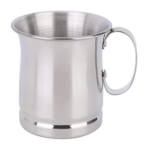 Duurzame roestvrij stalen bar koffie melk bier cocktail cup brede hals mok met handvat voor bars hotels cafes 500ml zilver MEERWEG AANBIEDING