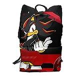 MIAOGOU Sonic Juguete Sonic Backpack Shadow The Hedgehog Mochilas Patrón Bolso Deportes Multifunción Hombre - Bolsos De Moda para Mujer