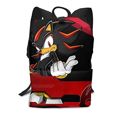 MIAOGE Giocattoli sonici Shadow Sonic Backpack Shadow Gli Zaini Ricci Modello di Alta qualità Borsa Multifunzione Sport Uomini - Borse di Tendenza delle Donne