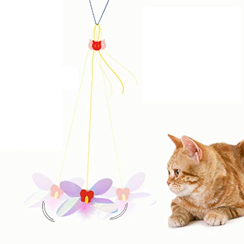 ISMARTEN Pet Cat Dragonfly Toy, A-Door-Able Dragonfly Cat Toys Teaser and Exerciser for Cat and Kitten Hanging from Door, Window, Sear, Cat Cage