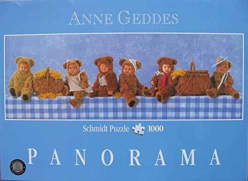 Schmidt Spiele - Anne Geddes, Teddybären-Picknick, 1000 Teile Panoramapuzzle
