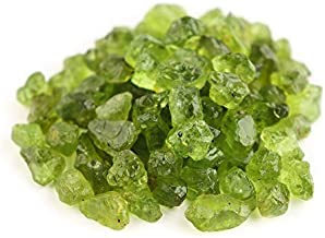 OdrillionGems AA Raw Peridot Crystal Gemstone Rough Stone Healing Crystals DIY Jewelry Making Loose Wholesale Lot Wire Wrapping August Birthstone (50carats Lot)