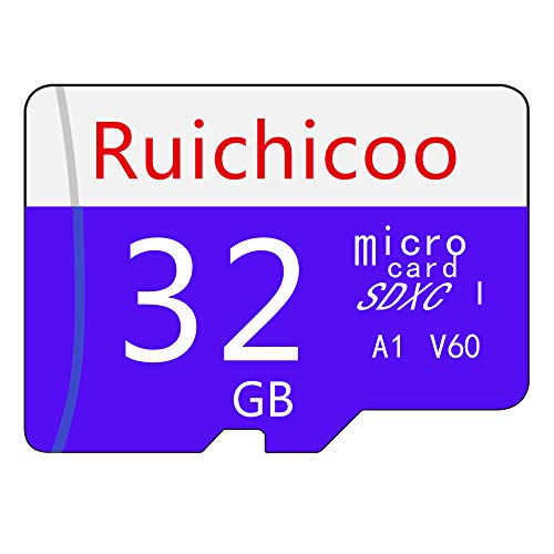 Ruichicoo 32GB Memory Card, High Speed Class-10 Memory Card with Adapter - V60, C10, U3, Full HD, A1, UHS-I (32GB) Arizona