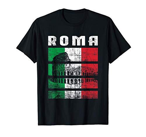 Roma Colosseo Souvenir Regalo Italia Vintage Maglietta
