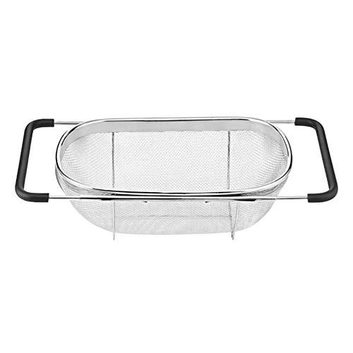 YWT Sink Vergiet Filter, Intrekbare Microporeuze Filter Pan, Afvoer Reiniging Fruit en Groente Vaatwasser, Keuken Verstelbare Vouwfilter