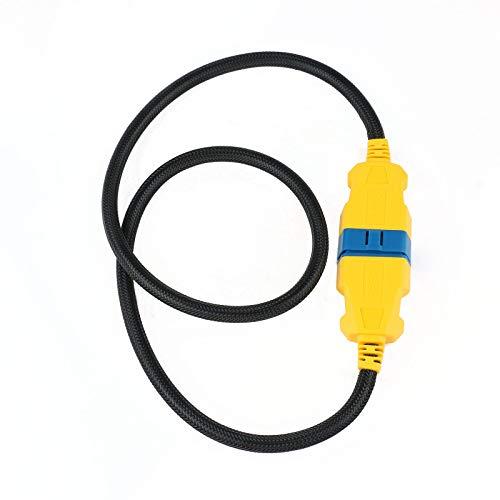 OURANTOOLS OBD-2 Cable Extensión Adaptador Conector – OBD-II AUTOOL 16 Pines 1m...