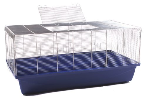 Nagerkäfig für Ratte Mäuse Hamster Kleintier Paradies blau XXL 1m 6mm Gitterabstand