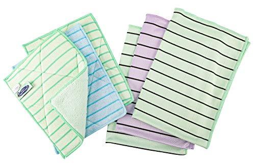 AQUA CLEAN Kristall Carbotex Fenstertuch 6er Set