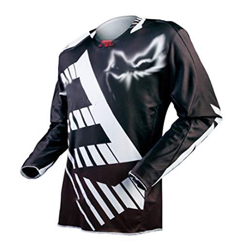 YSYFZ MTB-Trikot Outdoor-Radsport Fahrrad Reitanzug Langarm-Shirt Mountainbike Offroad-Motorrad-Service Langarm-T-Shirt Downhill-Anzug Offroad-Sportbekleidung Sommer Männer